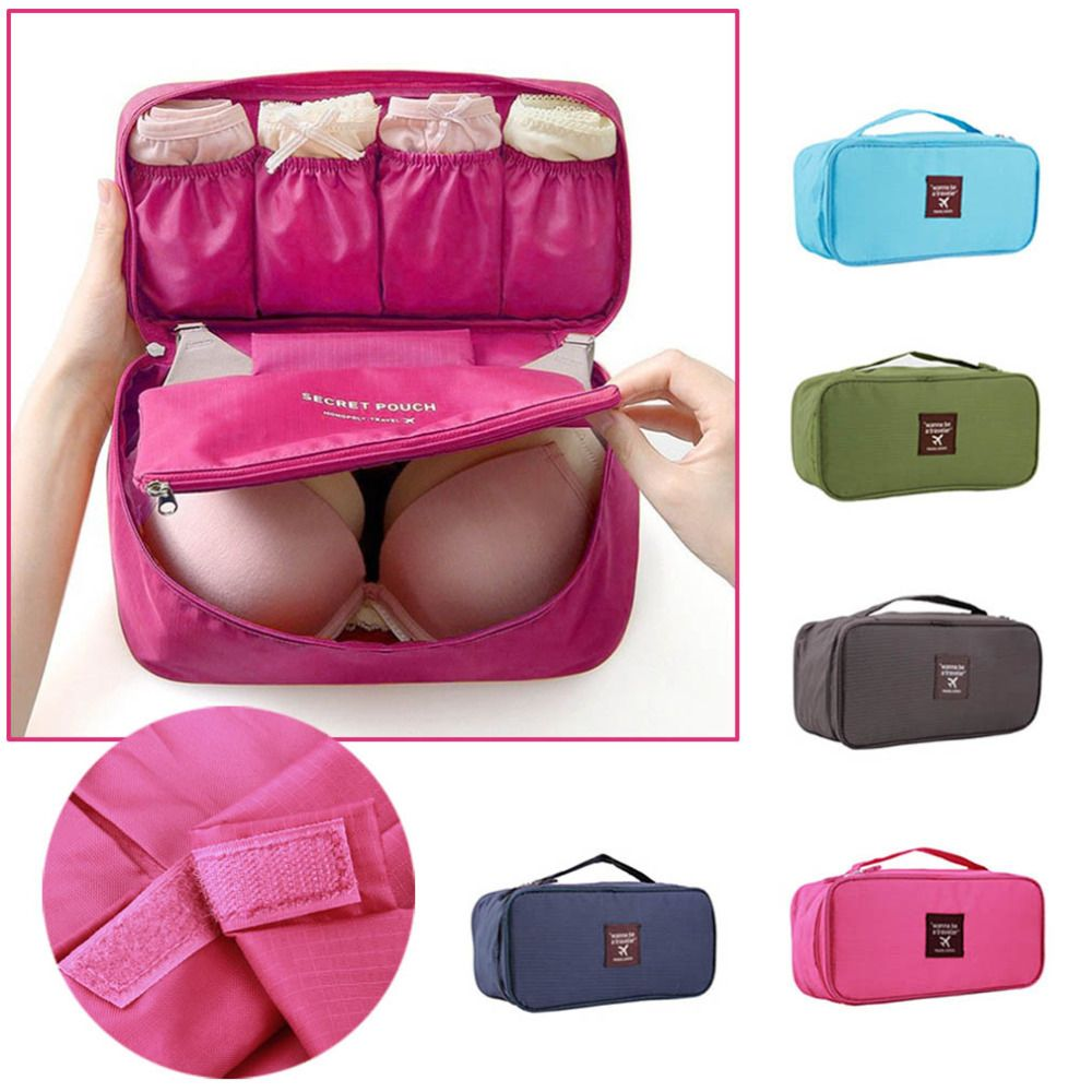 Bra Underwear Lingerie Travel Bag for Women Organizer Trip Handbag ...