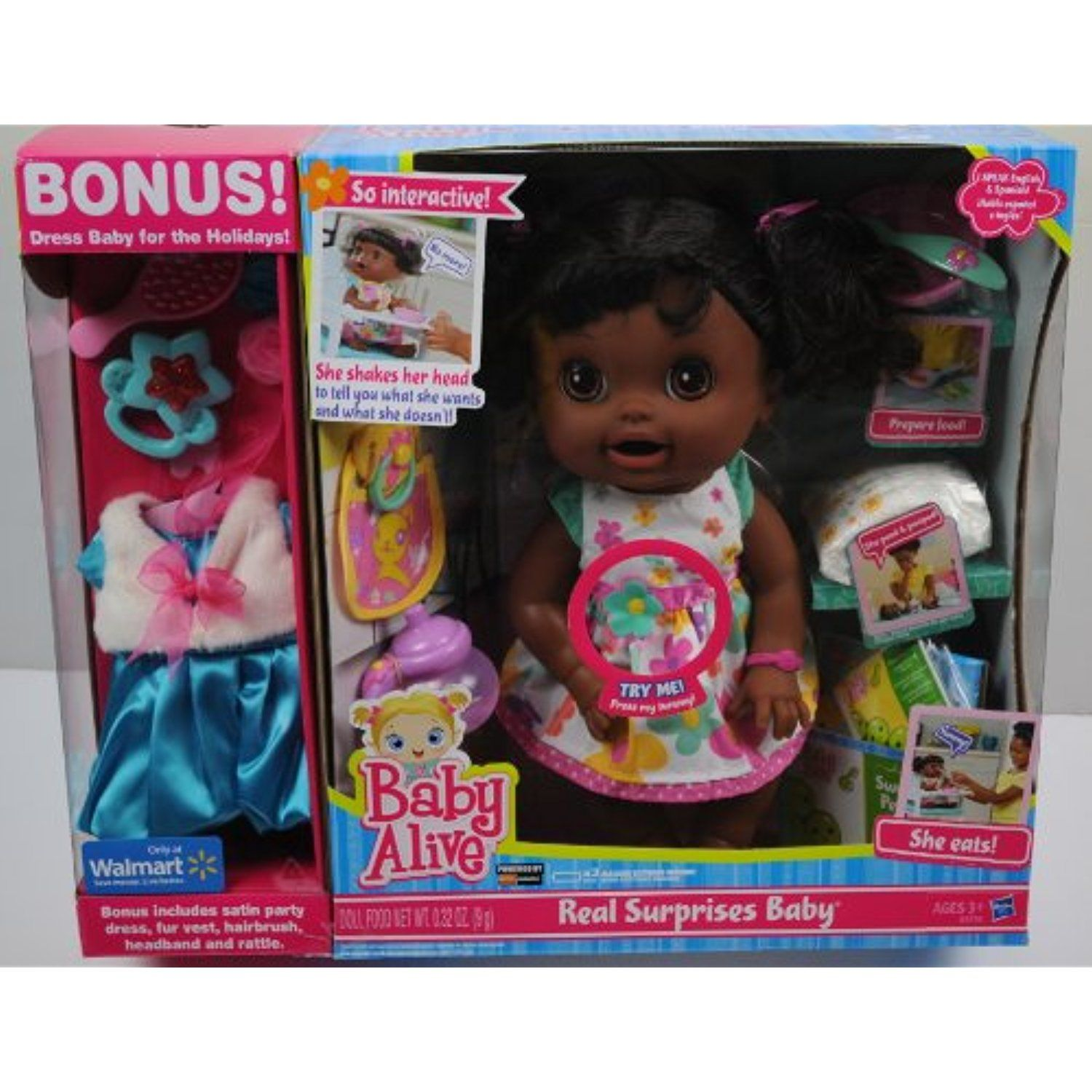 Baby Alive Real Surprises Baby Exclusive Bonus Holiday Outfit African American See This Great Product This Is An Aff Baby Alive Surprise Baby Baby Dolls