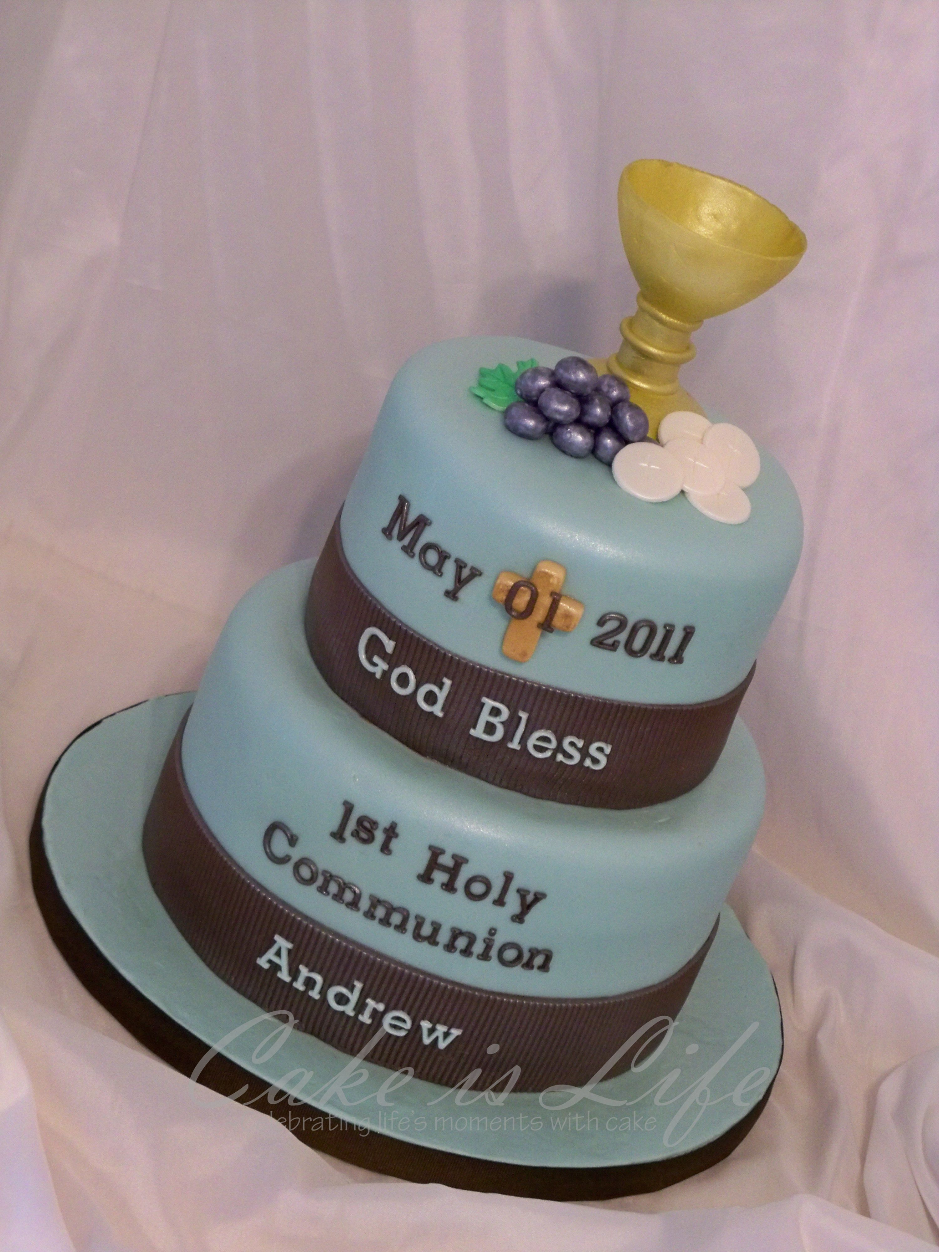Girl S First Communion Cake Decorating Idea Holy Bible