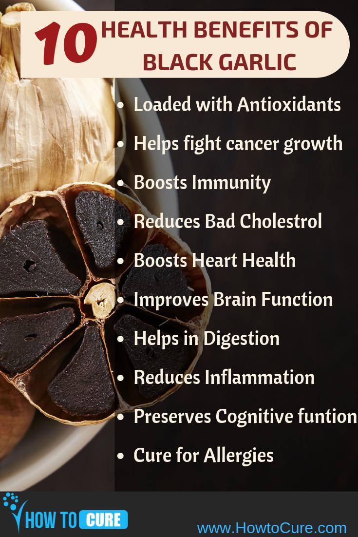 9 miraculous health benefits of black garlic | black garlic