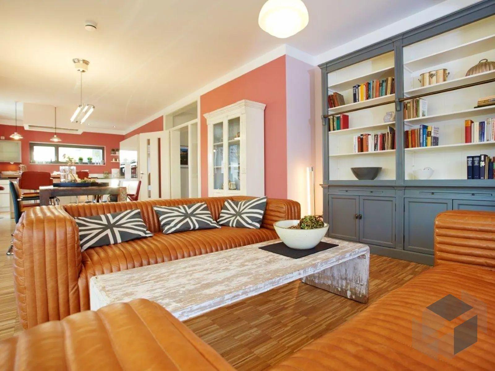 Wohnzimmer Deko amerikanischer Stil   Musterhaus, Haus ...