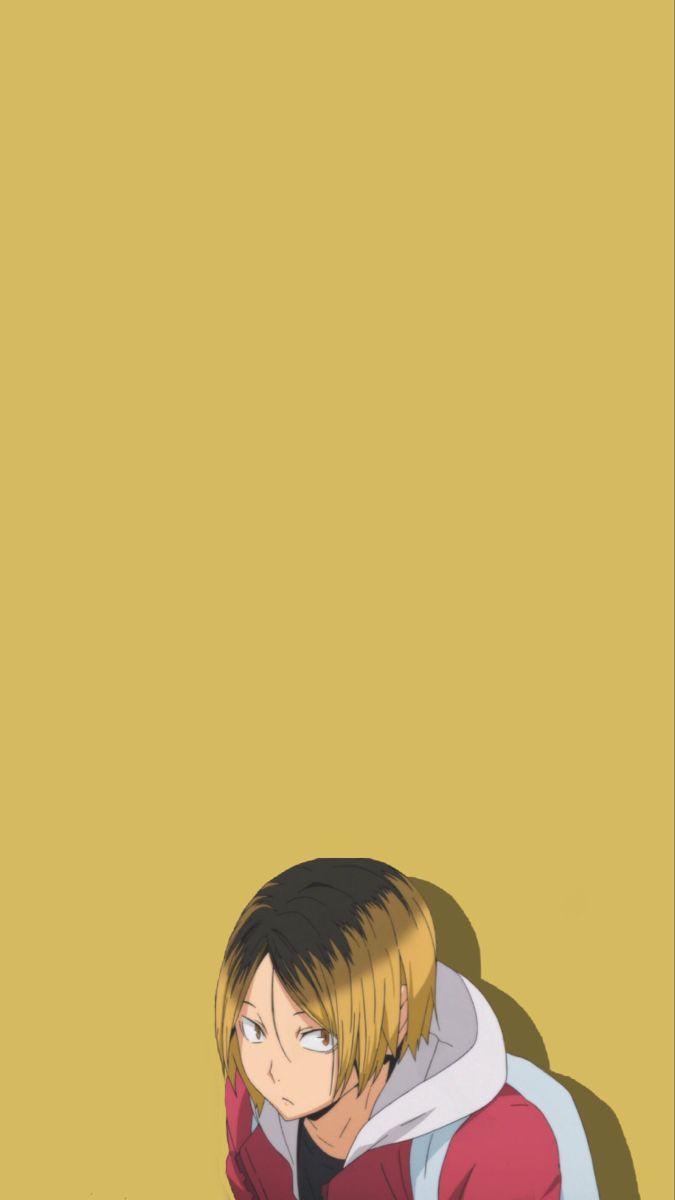 Kenmakozume Haikyuu Wallpapers Haikyuuedit Aesthetic Yellow Iphonewallpapers In 2020 Haikyuu Anime Anime Cute Anime Wallpaper