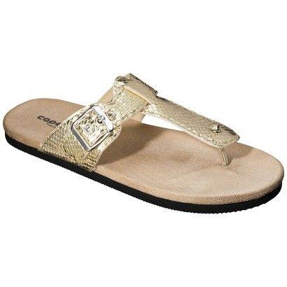 Target Women S T Strap Sandal Metallic Gold Image Zoom