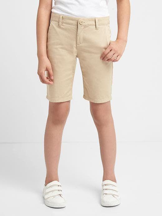 4efa5dc073 Gap Girls' Kids Uniform Bermuda Chino Pant Shorts Wicker | Products ...