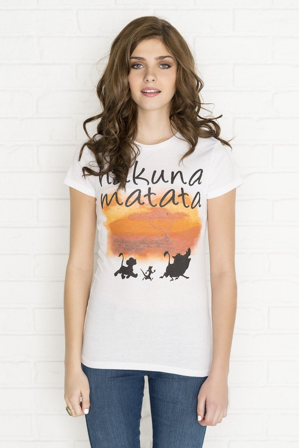 ec90febd White Hakuna Matata graphic t-shirt - Clothing | Ardene Official Online  Store