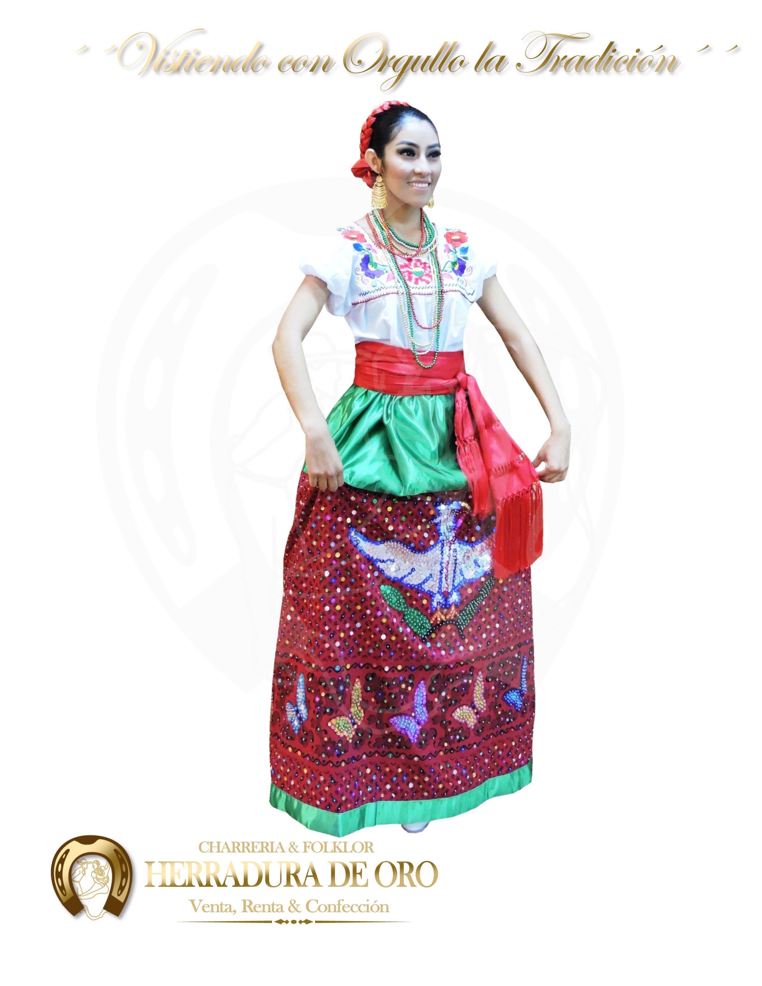 Traje Folklorico Del Estado De Puebla China Poblana 1163