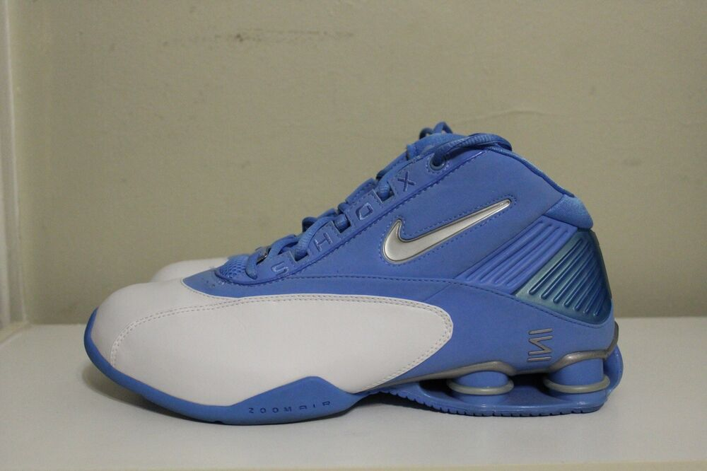 a172595a77ad1 Nike Shox Status TB University Blue White Silver 2003 Basketball Sneakers  Sz 11