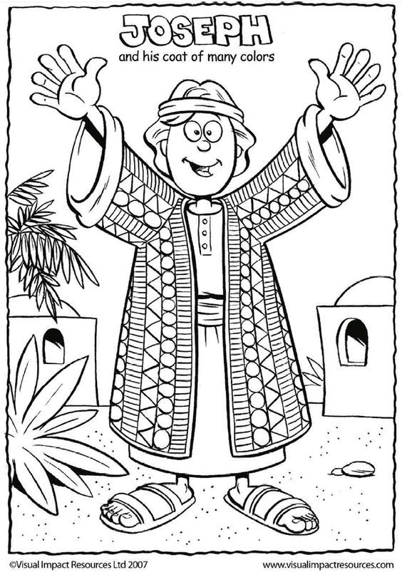 Joseph and His Coat - Coloring for Sunday School: | sunday school ...