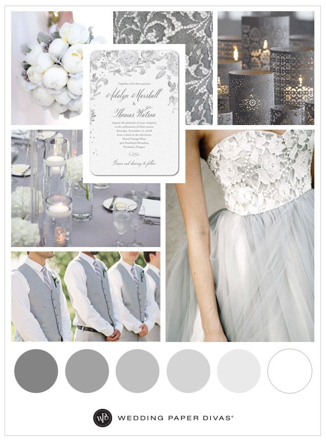 Neutral and Soft Grey Wedding Theme Ideas | Gray wedding colors ...