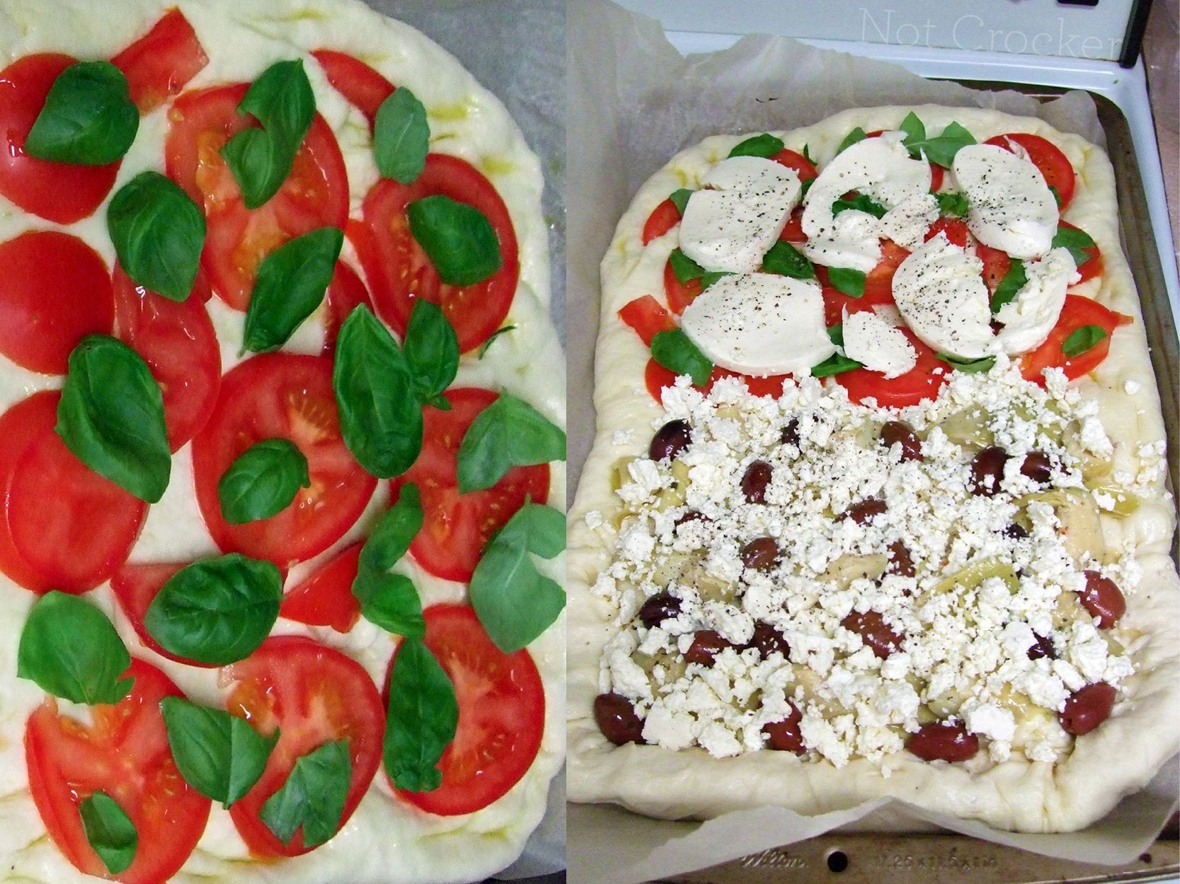 Fresh ingredients make for great pizza.