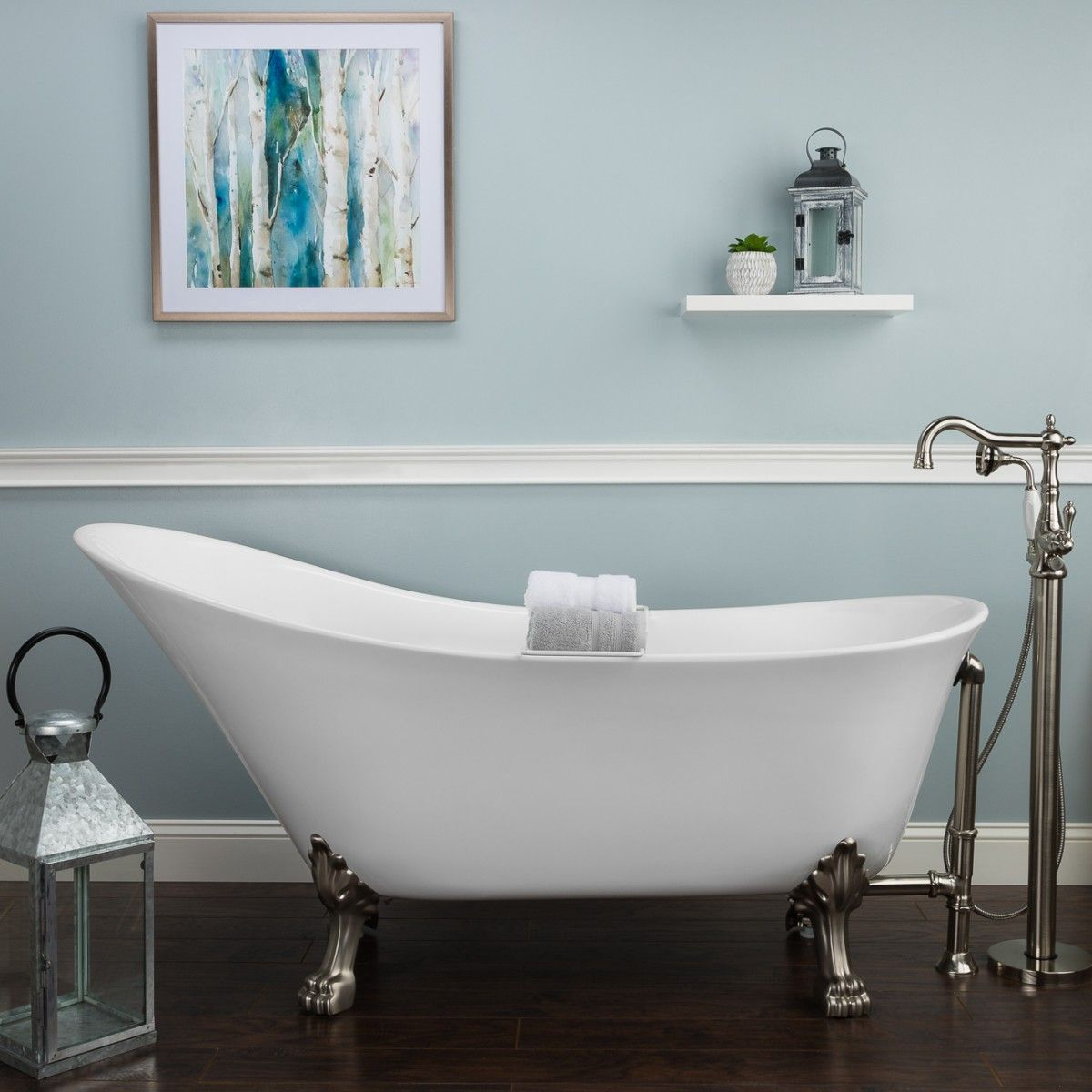 The Shape Of This Randolph Morris Nora Slipper Clawfoot Tub Encourages A Long Luxurious Soak After A Long Day Spen Clawfoot Tub Bathroom Decor Bathroom Design