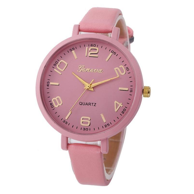 12688eddf4f Barato Doce cor relógios das mulheres moda relógio de luxo Casual Couro  Quartz Analógico Relógio de Pulso relogios feminino modas 2017 Do Tumblr
