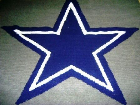 Another Star Pattern Dallas Cowboys Crochet Cowboy