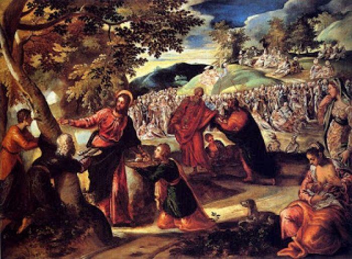 Tintoretto milagro de la multiplicaci n de los panes y for Loaves and fishes san jose