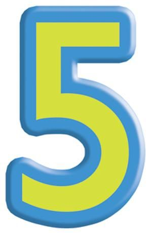 Funky number '5' | Typography: Safety in Numbers ...