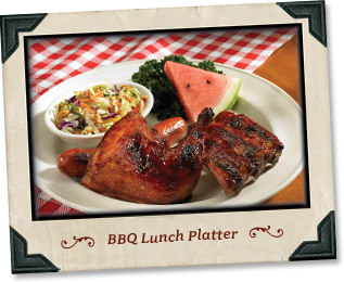 Lucilles Smokehouse BBQ, Green Valley Lunch menu, Lunch