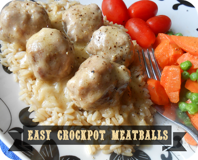 Crockpot Meatballs and Creamy Gravy recipe from The Better Baker. These are amazing!!! Love the flavor. On my dinner menu again this week!