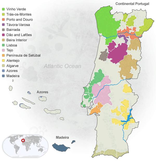 Portuguese Wine Regions | via @wines_portugal www.winesofportugal.info #Portugal