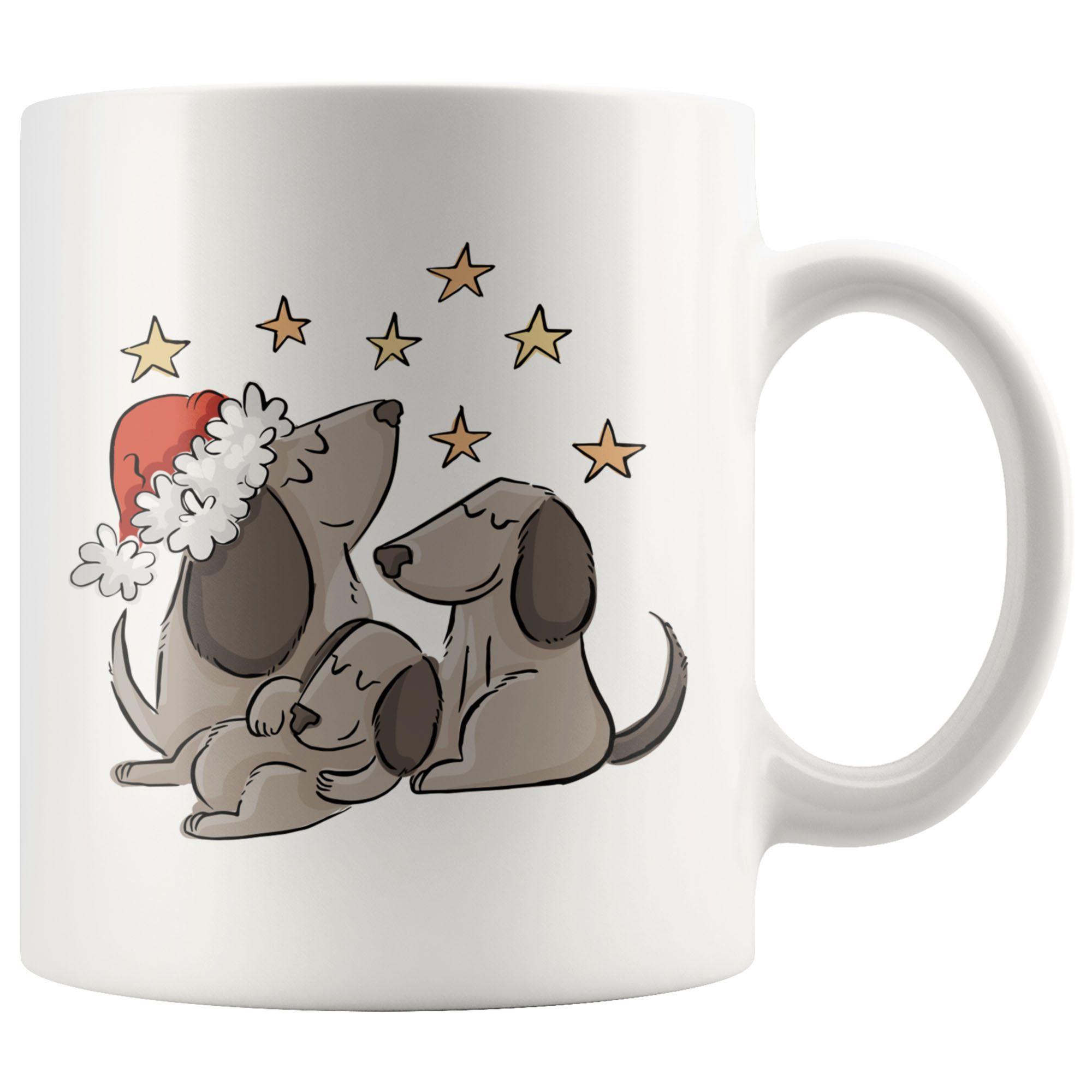 Funny Christmas Coffee Mug Christmas Dog Family