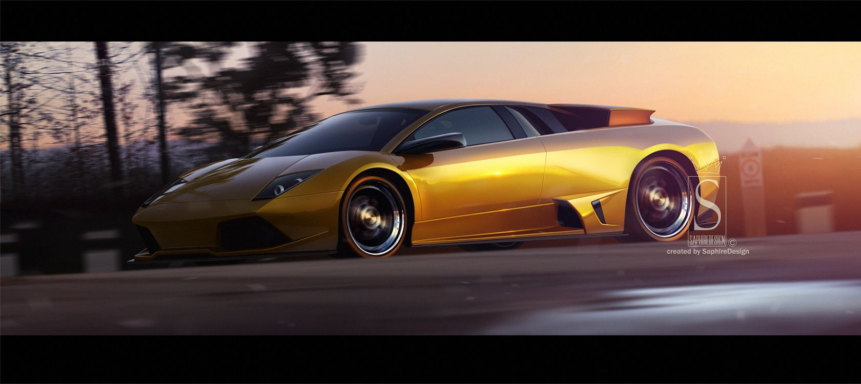 Lamborghini  murcielago LP640 by SaphireDesign.deviantart.com on @deviantART