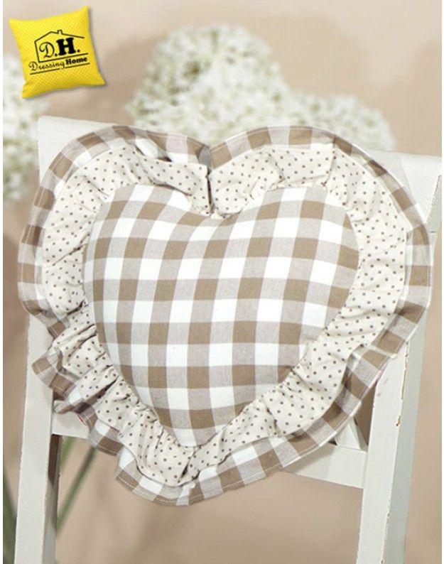 Cuscino Schienale a forma di cuore Angelica Home & Country