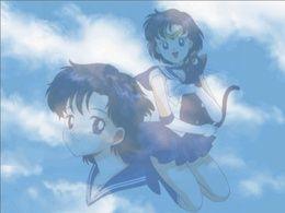 Wallpaper Ami und Luna anime