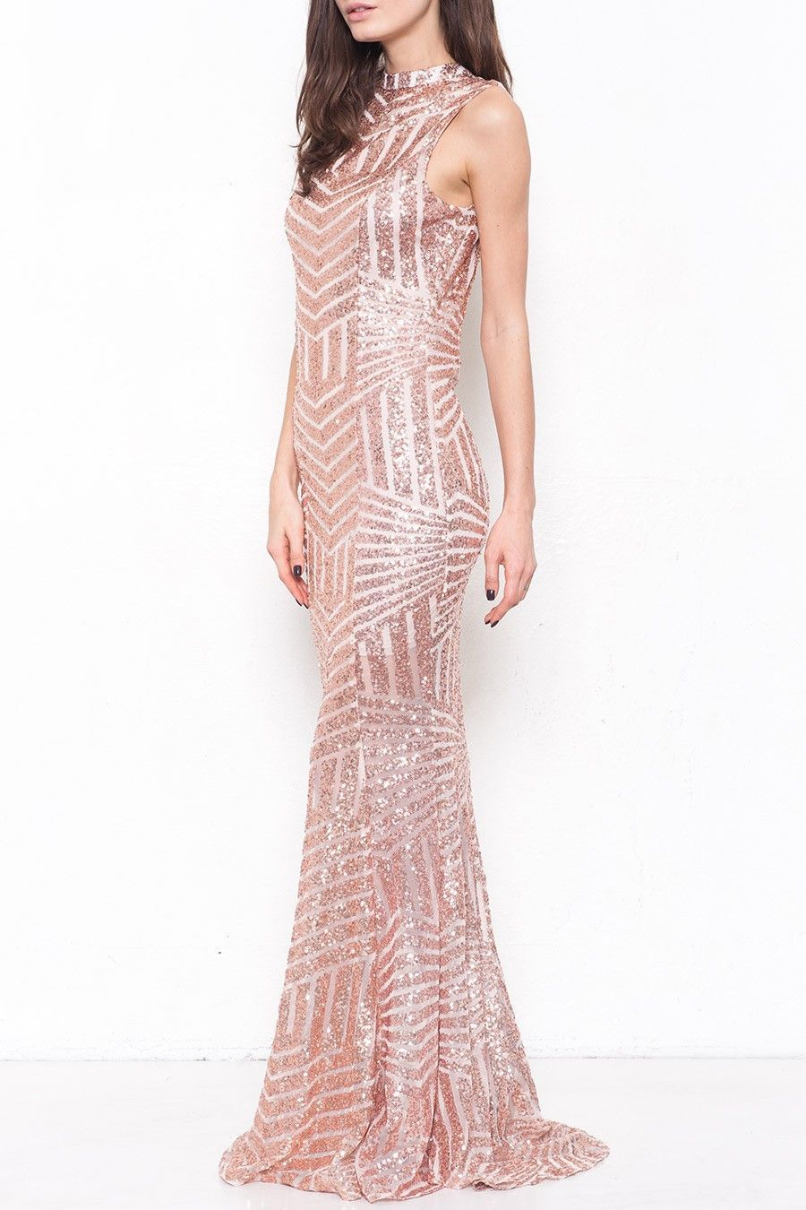 Buy Adrian Sequined Dress in Rose Gold at ROUTE 32 for only $ 78.00 ...