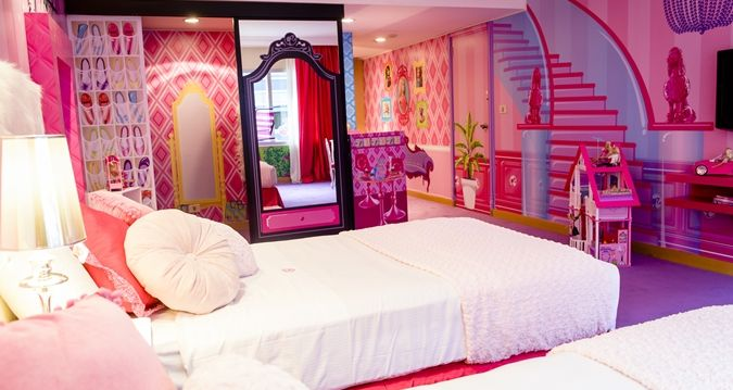 Barbie Room Hospedaje De Ensueno En El Hotel Hilton De Argentina Barbie Zimmer Barbie Schlafzimmer Dreamhouse Barbie