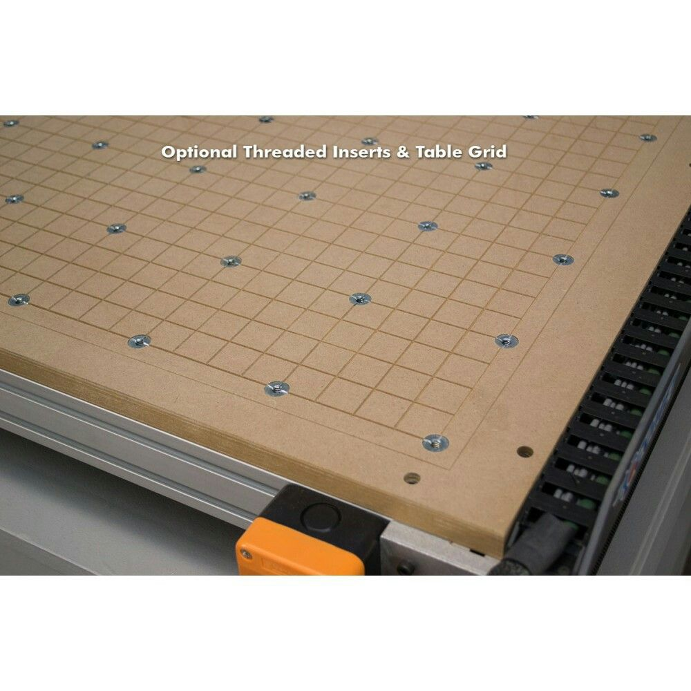 Spoilboard With Threaded Inserts And Grid Woodworking In 2018 Pi Cnc Projects Buy Alamode Controller Calculator Raspberry Router