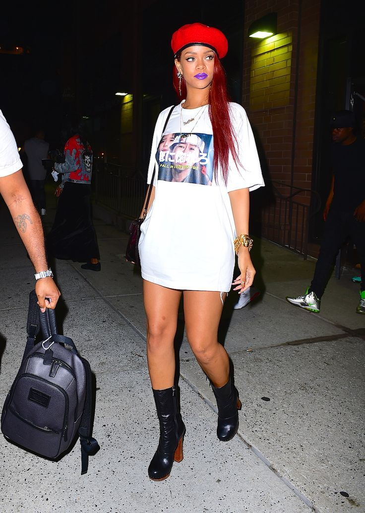 b0c5fb04542 Trend: wearing a T-shirt as a dress in 2019 | An outfit to remember ...