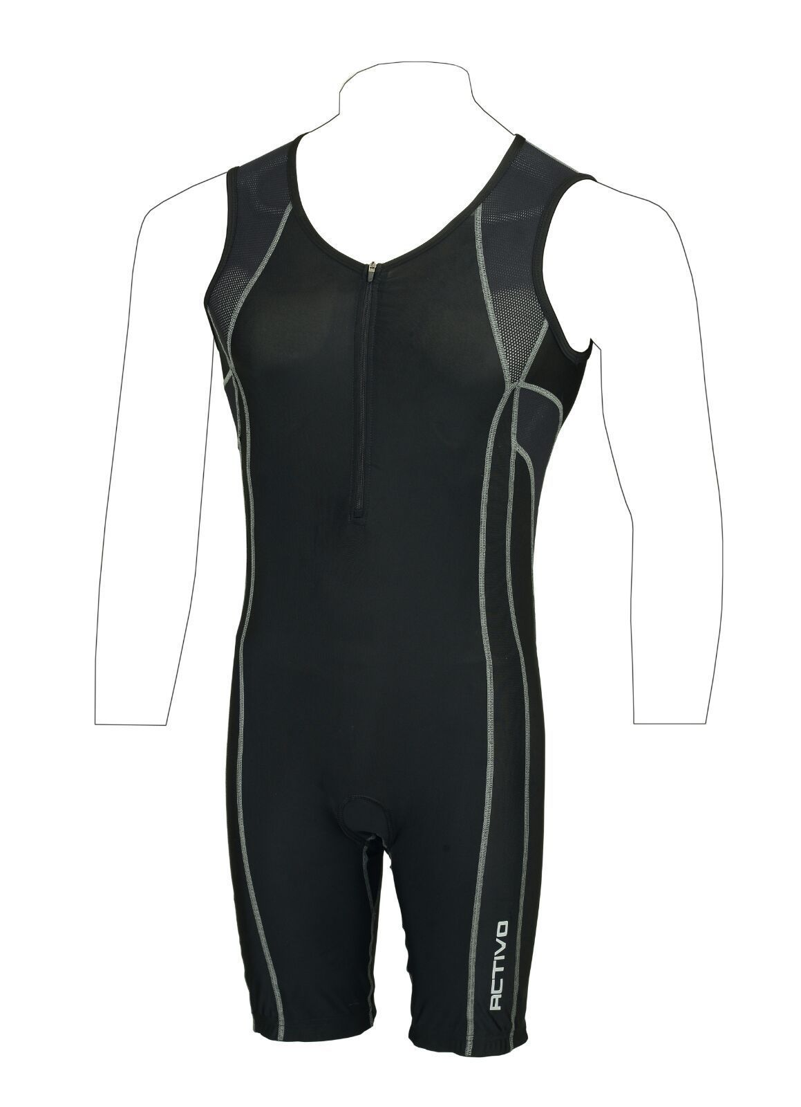 515f077b8fb  Activo mens padded  triathlon tri suit duathlon running  cycling swim  tritard
