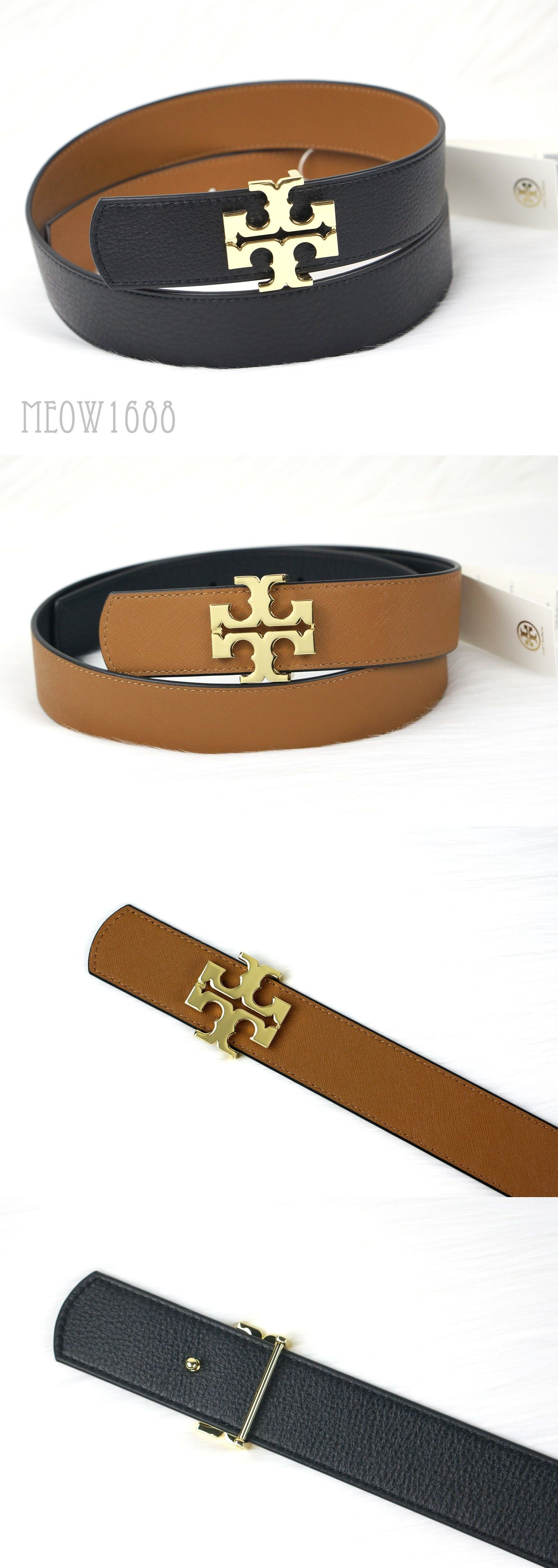 dcd665e58ee2 Belts 3003  New Tory Burch Reversible Logo Belt 1.5 Black Brown Tiger S Eye  Leather S M L -  BUY IT NOW ONLY   139.95 on eBay!