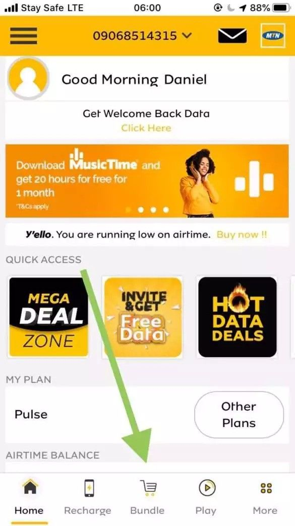 How To Transfer Mtn Data From One Mtn Sim To Another In 2020 Share Data Data Sims