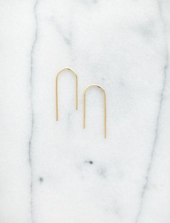 Asymmetric Arch Earrings (Small)