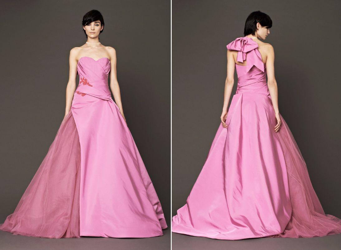 Vera-Wang-Fall-2014-Pink-Bridal-Ball-Gown | Wedding & Prom ...
