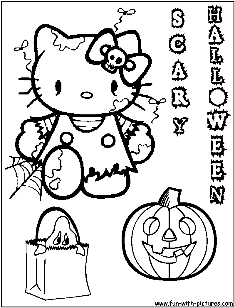 On This Page You Will Find Many Hello Kitty Halloween Colorings All The Free Printable Coloring Pages We Have Are Grouped Into Categori