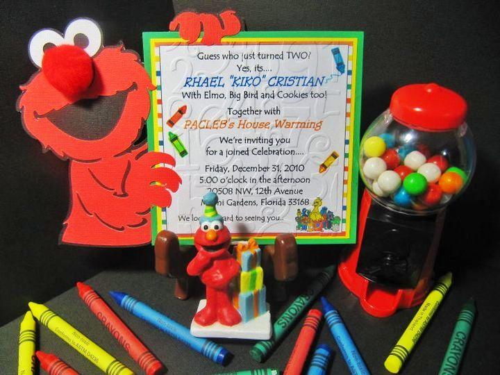 Elmo invites 2nd birthday big bird elmo