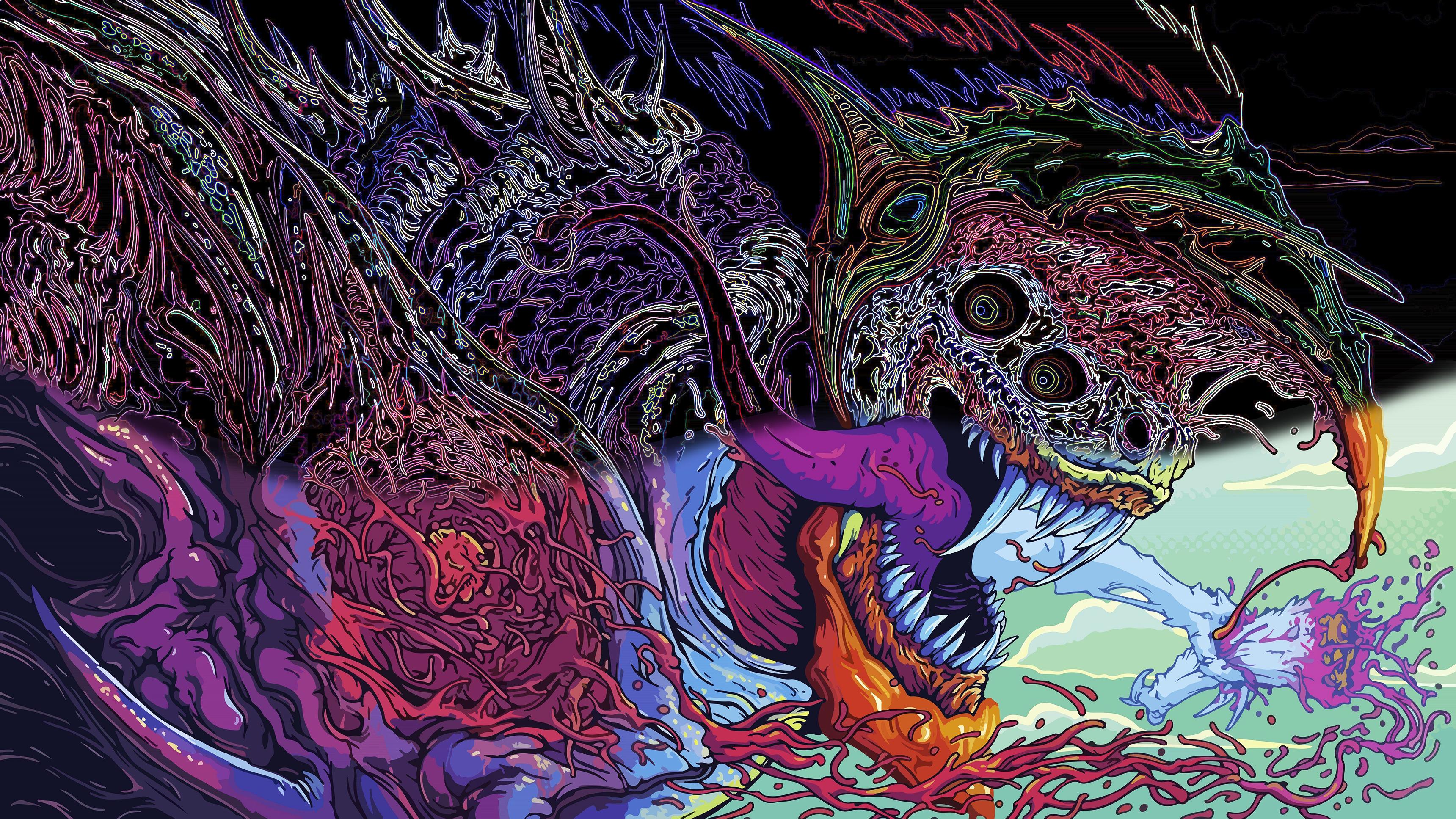Wallpaper Hyper Beast Edit 3440x1440
