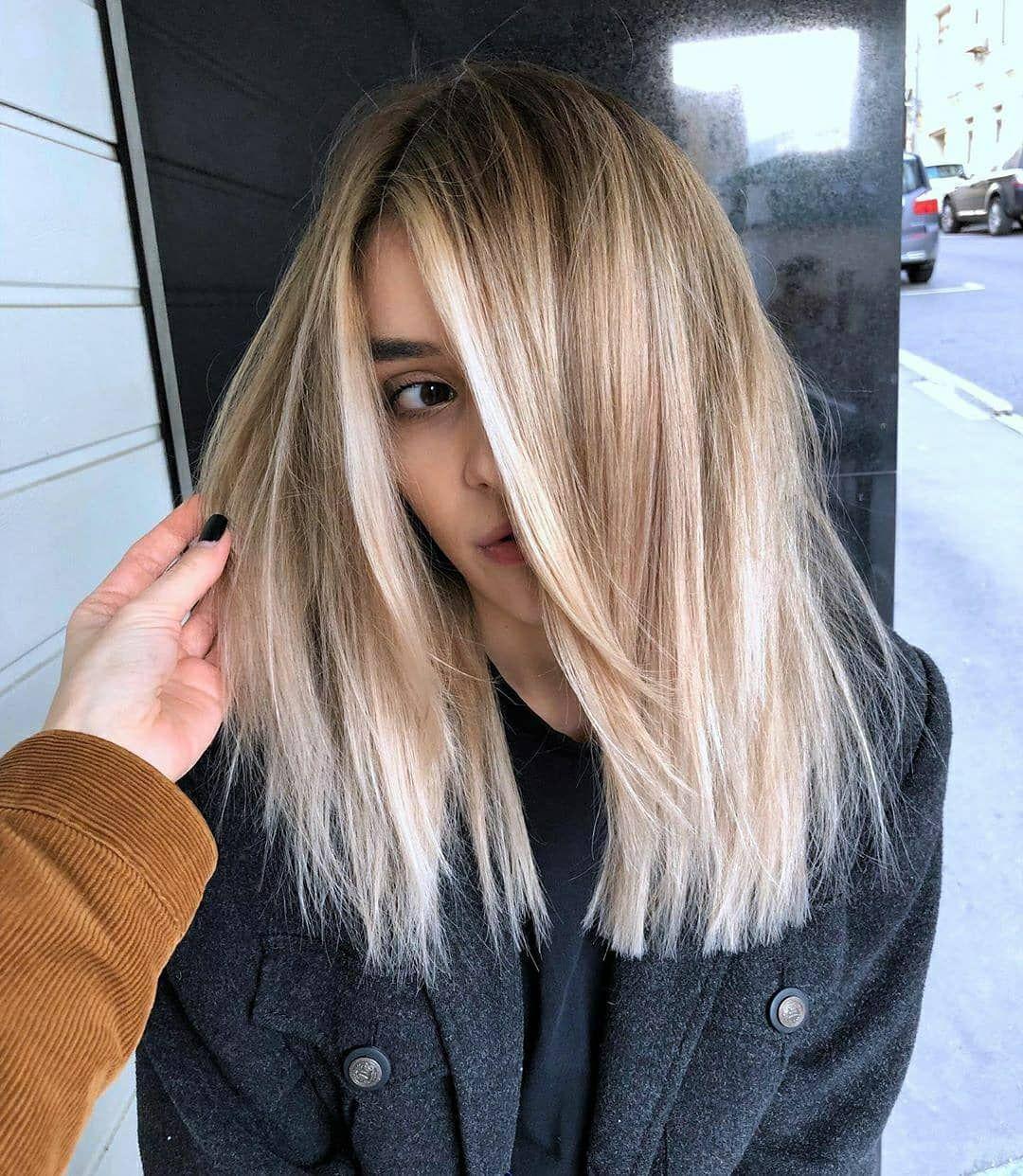 Haare stylen schulterlange blonde Kurze Haare