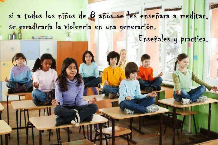 Resultado de imagen de LA MEDITACION EN LA EDUCACION ESCOLAR