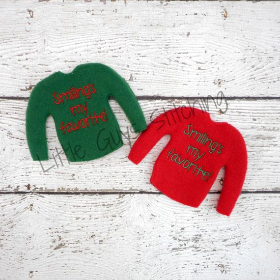 Smiling Elf Sweater Elf clothes Elf attire by LittleGuysStitching