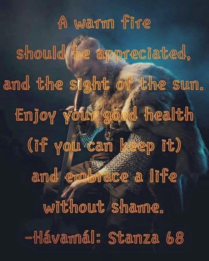 Norse Pagan Quotes Quotesgram: #Viking Wisdom From #Odin. #Havamal
