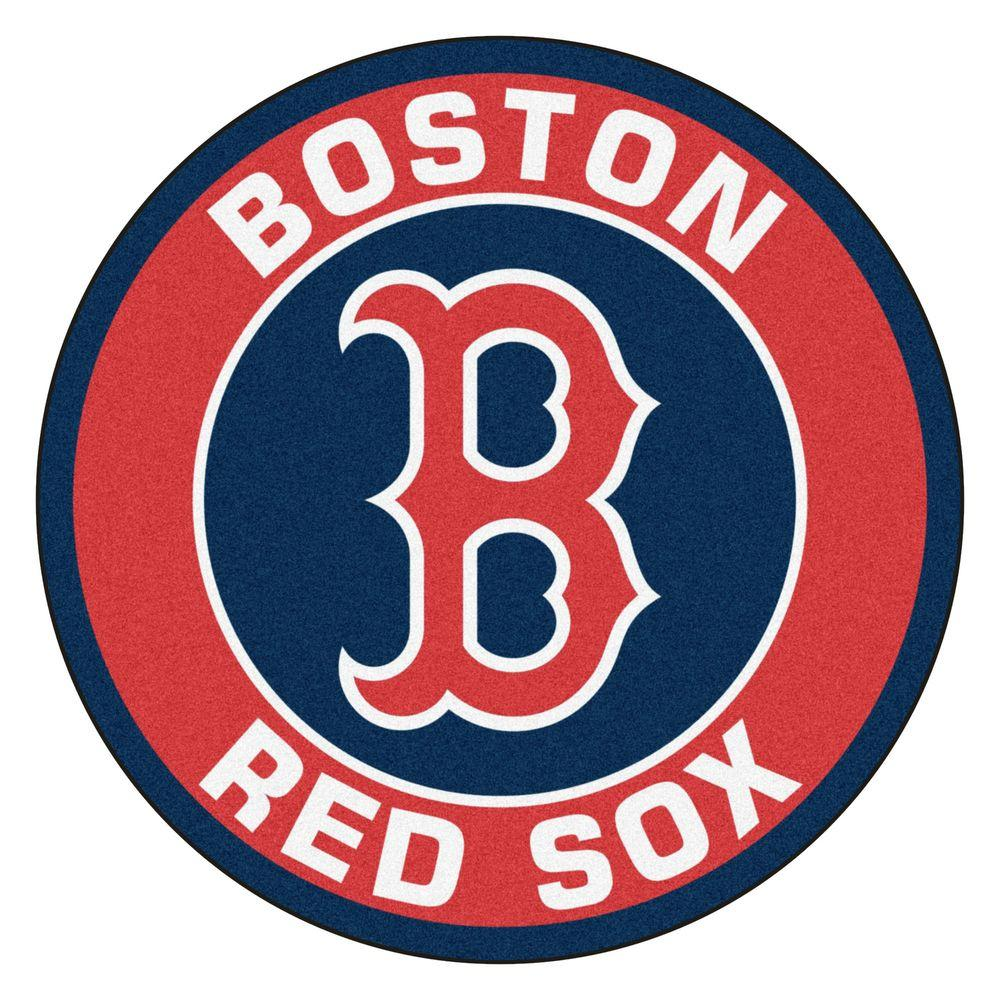 Fanmats Mlb Boston Red Sox Red 2 Ft X 2 Ft Round Area