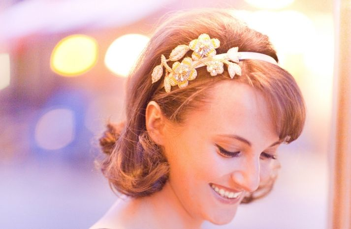 Complete your #wedding day look with a beaded floral headband. The work w/ so many hairstyles!