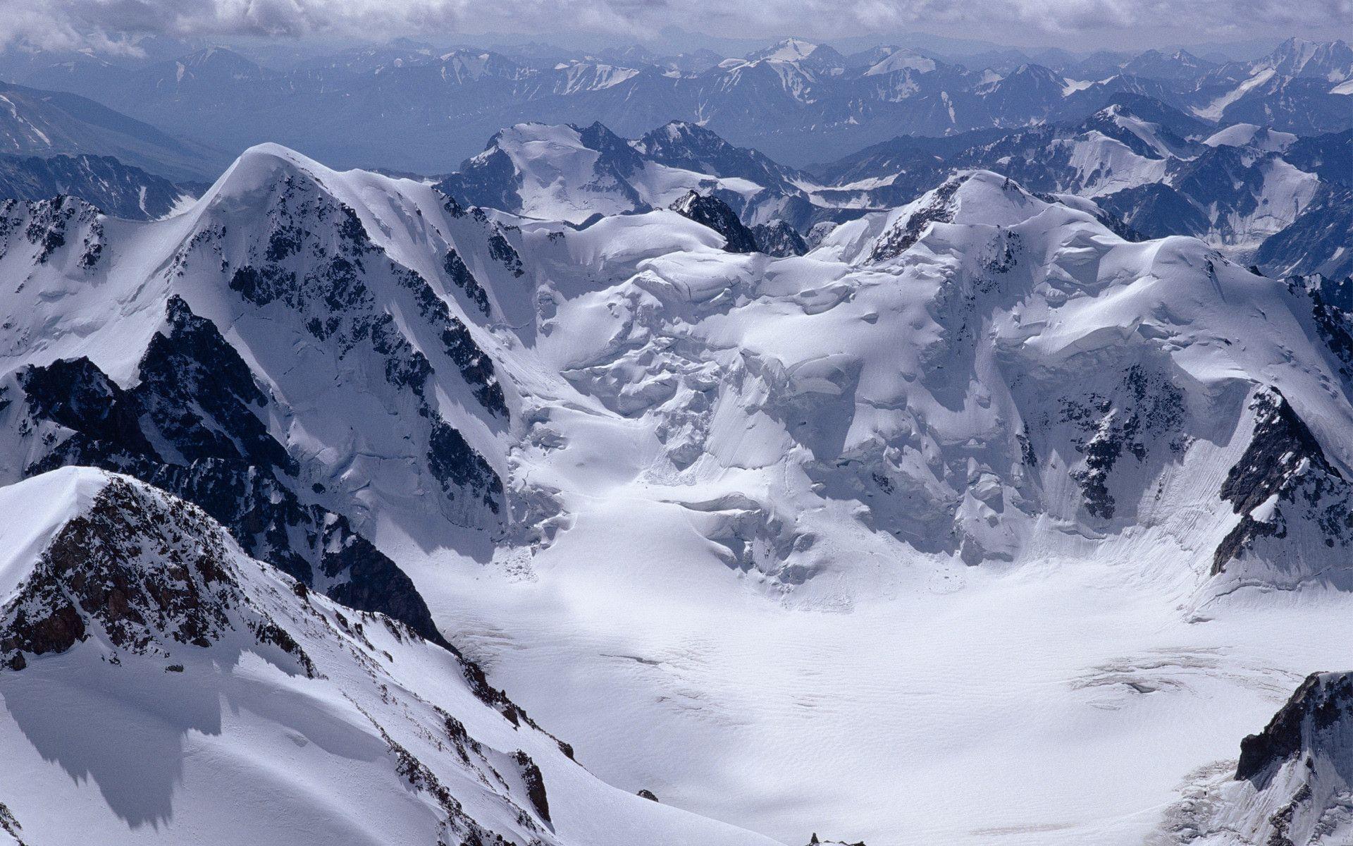 High Resolution Nature Desktop Wallpaper Of Winter Mountain Crest ID