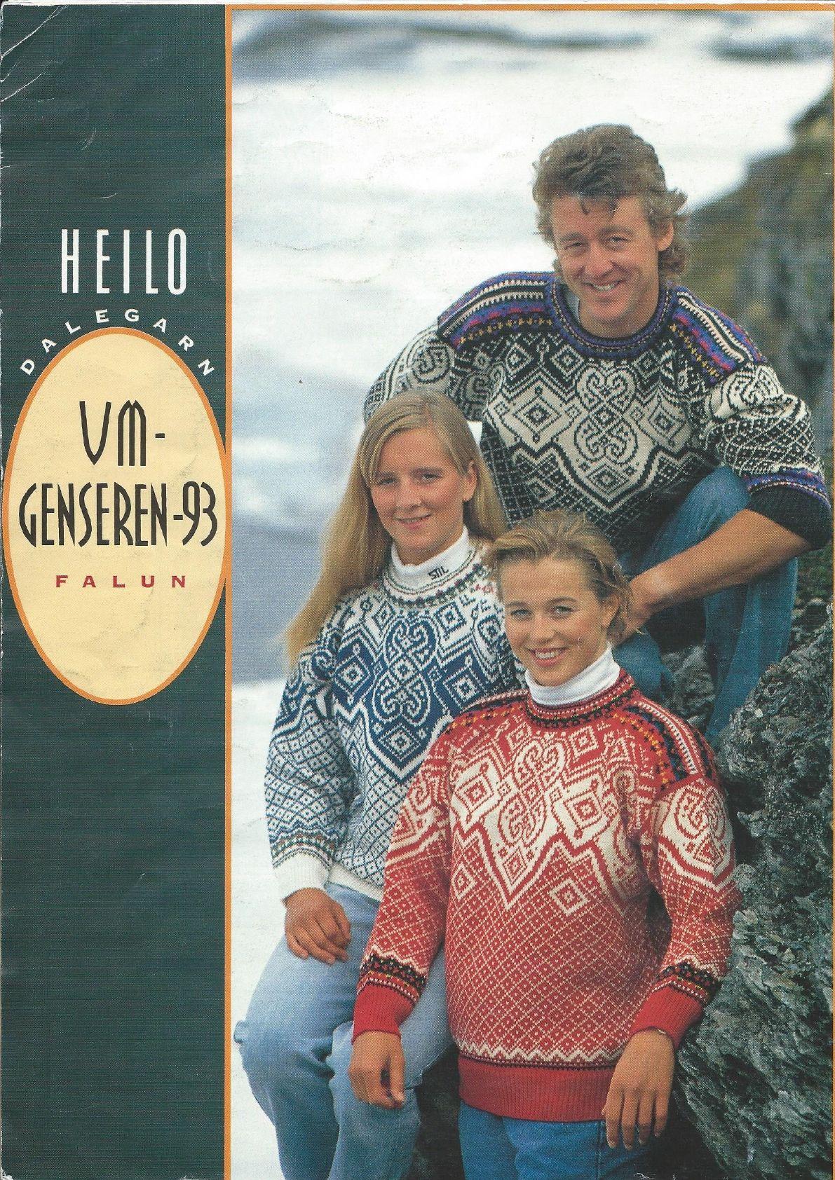 strikkeoppskrift ol genser 1994