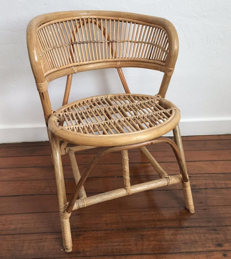 Curved Single Cane Chair Perfect For A Dining Chair Bedroom Or