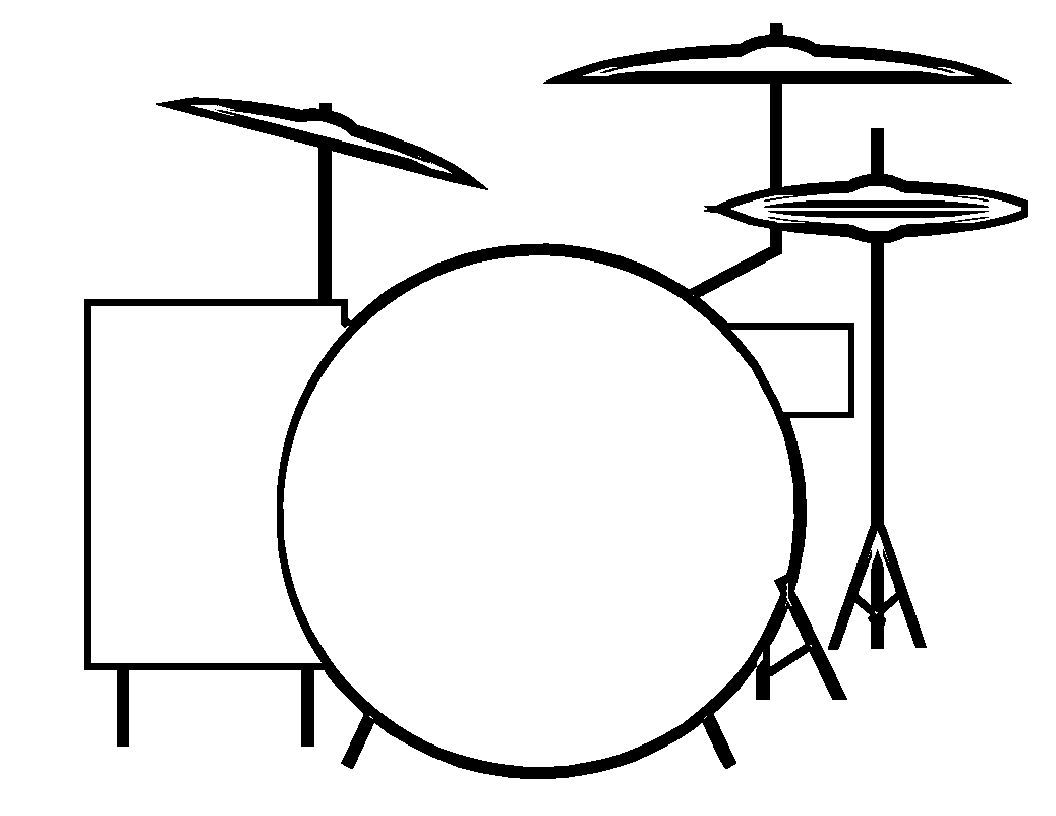 Music Drum Set Music Shape