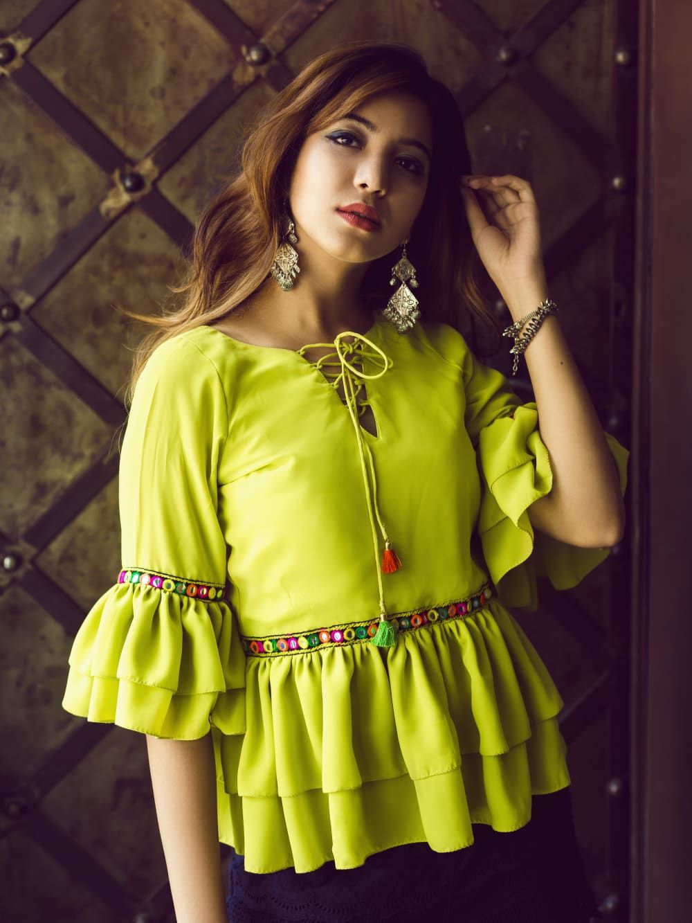 b0c9b736f79b Buy Western Tops for ladies online at cheapest rate in India. Shop long tops,  jeans tops, cotton tops, crop tops, party wear designer tops, off the  shoulder ...