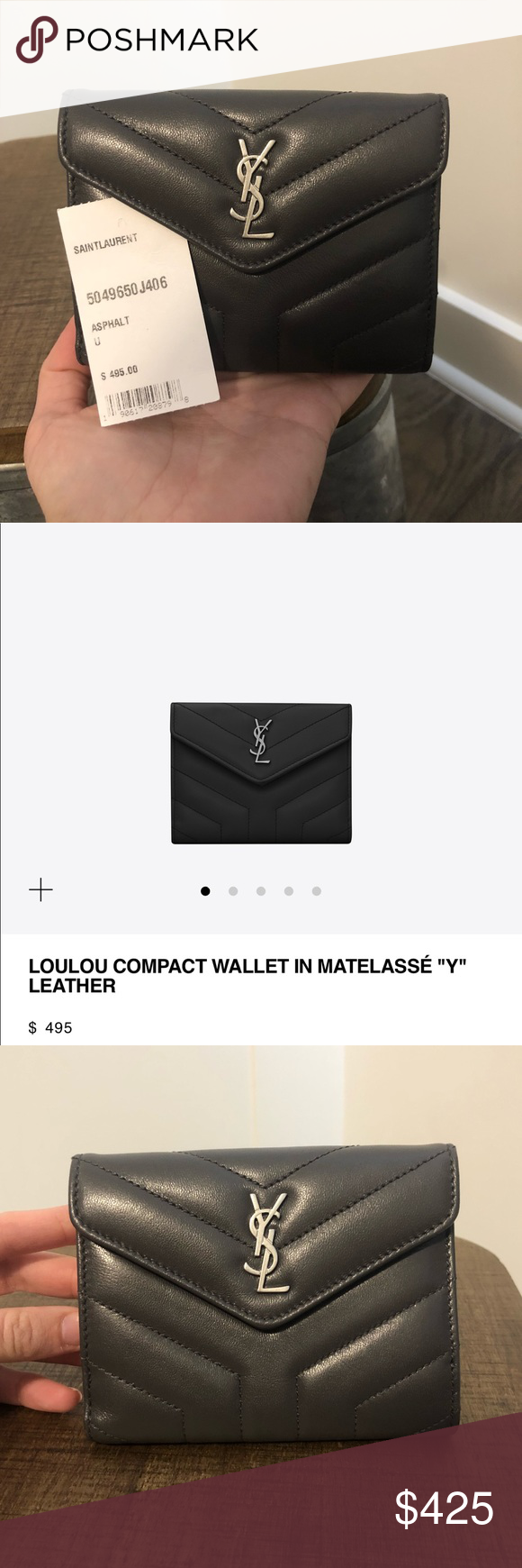bcb0126691 YSL LouLou Compact Wallet Never been used, authentic Saint Laurent ...